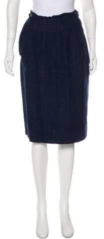 Brooks Brothers Linen Knee-Length Skirt