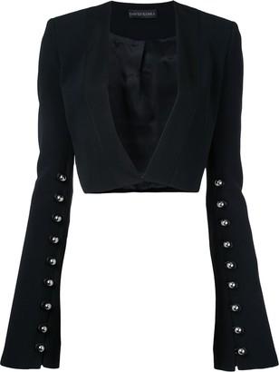 David Koma studded cropped jacket