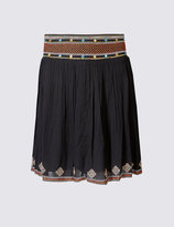 Marks and Spencer Mirror Embroidered A-Line Mini Skirt