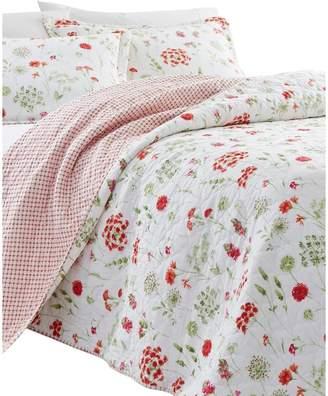 Laura Ashley Libby Cotton 3-Piece Floral Quilt Set