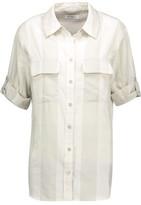 Equipment Slim Signature Striped Cotton-Voile Shirt