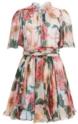 Dolce & Gabbana Camelia Acqua short dress