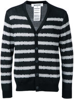 Anrealage striped cardigan - men - Silk/Rayon/cotton - 48