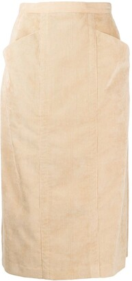 Maryam Nassir Zadeh Corduroy High-Rise Pencil Skirt