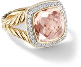 David Yurman 18kt yellow gold Albion morganite and diamond ring