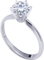 Stunning! 14k White-gold 6.50mm (0.88CT Actual Weight, 1.00CT Diamond Equivalent Weight) Moissanite Solitaire 6-Prong Engagement Ring by Vicky K Designs - 8.0