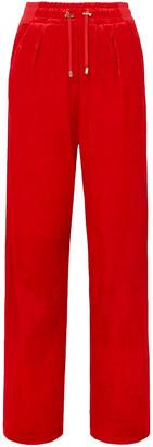 Balmain Velvet Track Pants