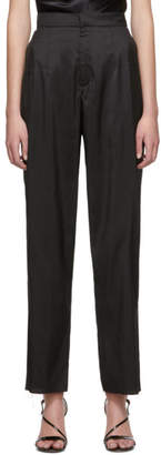 Marques Almeida Black Silk Trousers