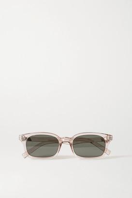 Le Specs Carmito Square-frame Acetate Sunglasses - Clear