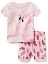 Old Navy 2-Piece Flamingo-Graphic Sleep Set for Toddler & Baby