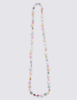 M&S Collection Multi Chip Long Necklace