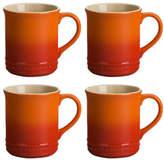 Le Creuset Set Of Four Mugs