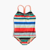 J.Crew Girls' racerback one-piece swimsuit in colorful stripe