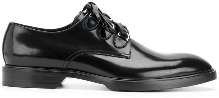 Dolce & Gabbana hoops embellished derby shoes