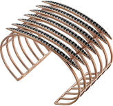 Shaun Leane Rose gold vermeil and black spinel Quill cuff