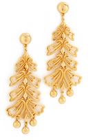Ben-Amun Leaf Long Earrings