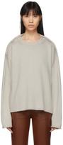 Maison Margiela Off-White Wool Gauge 11 Sweater