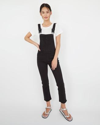 Paige Hi Rise Sierra Overall-Vintage Black