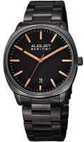 August Steiner Women's Quartz Stainless Steel Casual Watch, Color:Black (Model: AS8237BK)
