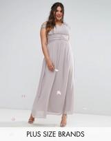 Tfnc Plus Tfnc Wedding Plus Maxi Dress With Embellished Cold Shoulder