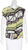 Balenciaga Printed Sleeveless Top