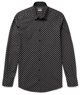 Dolce & Gabbana - Slim-fit Polka-dot Cotton-poplin Shirt