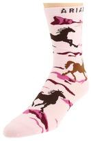 Ariat Run Free Ankle Socks (Pink) - Footwear