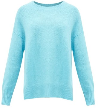 Allude Round-neck Cashmere Sweater - Womens - Blue