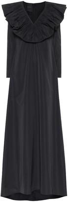 Valentino Cotton-blend taffeta gown
