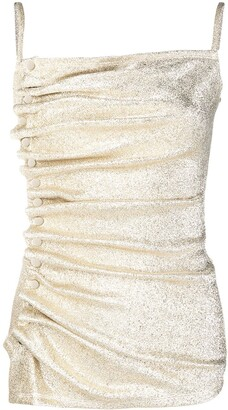 Paco Rabanne Metallic Ruched Cami Top
