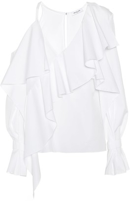 Thierry Mugler Asymmetric cotton blouse