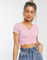 Daisy Street fitted top with ruching detail