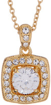 Nadri Crystal Framed Cushion Cut Pendant Necklace
