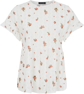 New Look Floral and Spot Peplum Top
