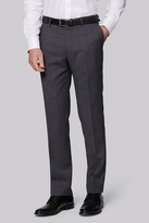 Moss Bros Tailored Fit Charcoal Windowpane Pants