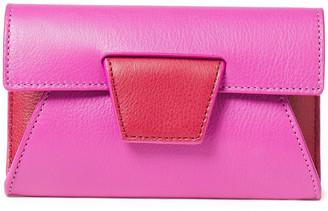 Yuzefi Lolita Color-block Textured-leather Wallet