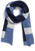 Halogen Colorblock Knit Cashmere Scarf
