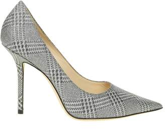 Jimmy Choo Decollete Love 100 In Fabric Color Gray