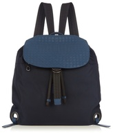 Bottega Veneta Intrecciato Leather And Canvas Backpack