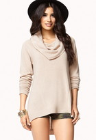 Forever 21 Contemporary Cowl Neck Tunic Sweater