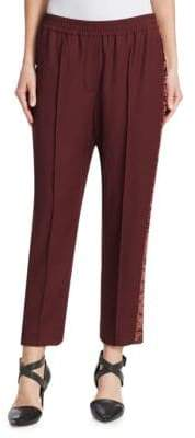 Brunello Cucinelli Wool and Velvet Track Pants