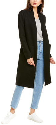 Raffi Back Stripe Wool Coat