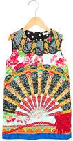 Dolce & Gabbana Girls' Fan Print Shift Dress