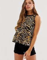 Asos Design DESIGN sleeveless smock in animal print
