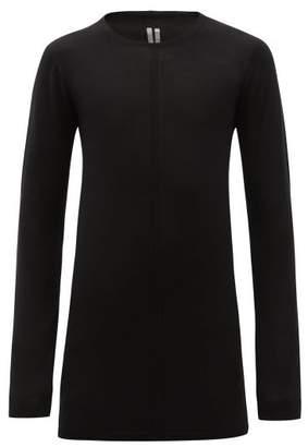 Rick Owens Long Sleeve Wool Sweater - Mens - Black