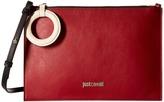 Just Cavalli Color Block Calf Leather Crossbody Cross Body Handbags