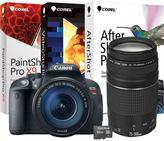 Canon EOS Rebel T5i 18MP Digital Camera with EF 75-300mm f/4-5.6 III Telephoto Zoom Lens, 16GB microSD Memory Card and Digital Creative Suite 2.0