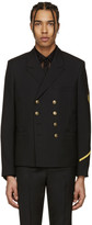 Saint Laurent Black Military Blazer