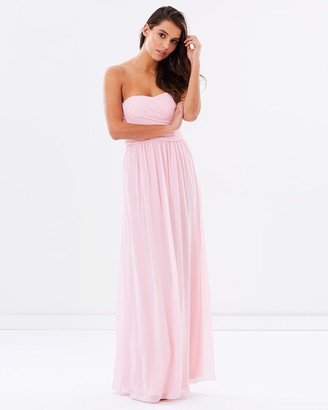 Skiva Strapless Chiffon Evening Dress