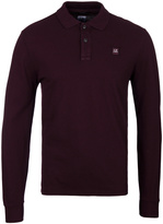 Cp Company Plum Long Sleeve Regular Fit Polo Shirt
